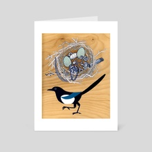 Magpie Nest - Art Card by Liza Ferneyhough