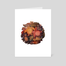 Bear Ball - Art Card by Brandon James Scott