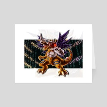The Metal Dinosaur - Art Card by Vanya Castillo