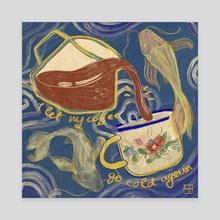cold coffee - Canvas by Tamás Liczkai