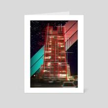 Retro Building - Art Card by Jérémy Hervier