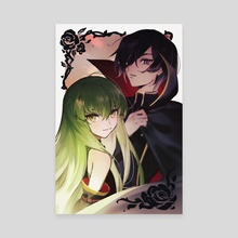 Code Geass - C.C. & Lelouch - Canvas by k