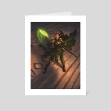 Nissa, Worldwaker - Art Card by Chris Rahn