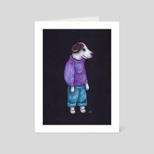 Pretzel Pup - Art Card by Ainsley Sturko