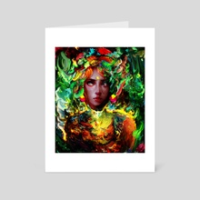 nature girl - Art Card by Maxim G