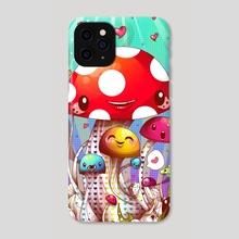 Mushroom Fantastic - Phone Case by acrylicana