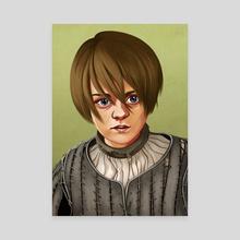 Arya Stark - Canvas by Callie Booth