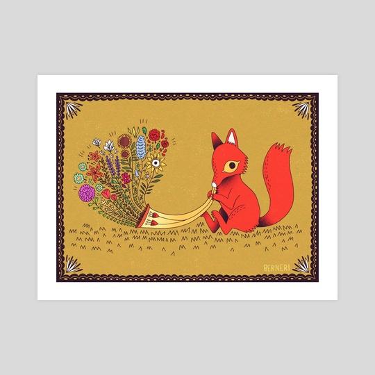 Red fox & Spring horn by Bern Lehtinen