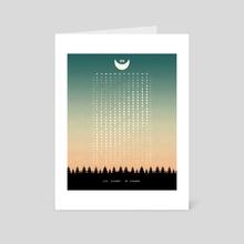 Moon Phases Calendar 2019 Green - Art Card by Illusorium