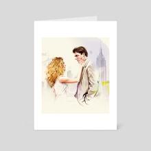 Carrie & Big - Art Card by Natalia Sanabria