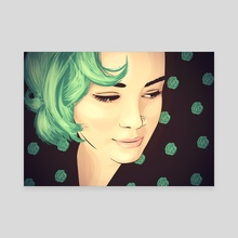 Green - Canvas by Falcao Lucas