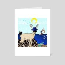 Summer vacation - Art Card by Michal Eyal
