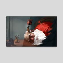 Take that Santa - Acrylic by Tom Cech