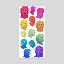 Rainbow Billy - Canvas by GRAVEGROVES