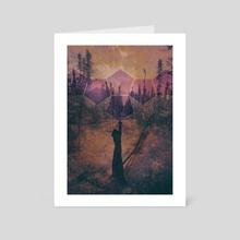 Choirs of Winter - Art Card by Tim Green
