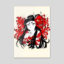 Oni girl - Acrylic by gabriela Aguilar
