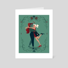 Harley & Ivy - Art Card by Diana Whitney