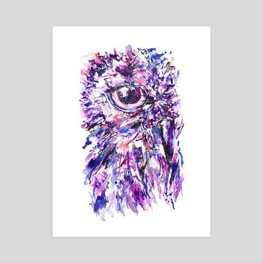 Purple Owl by Annick Ip