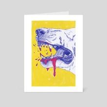 Devil Dog - Art Card by Chrissy Curtin