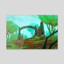 Archway Ruins - Acrylic by Amy Gerardy