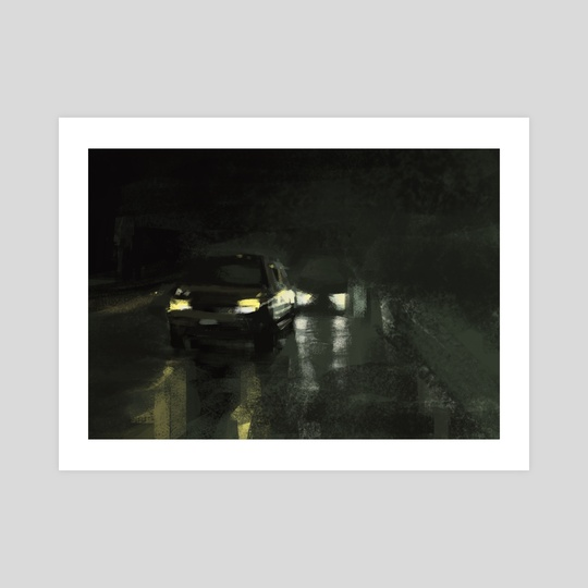 Rainy highway at night by Christian Muller