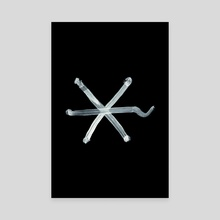 Alchemical Symbols - Summer Inverted - Canvas by Wetdryvac WDV