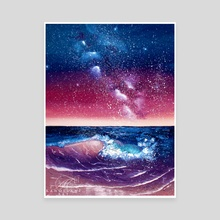 Cotton Candy Ocean - Canvas by Addison Kanoelani