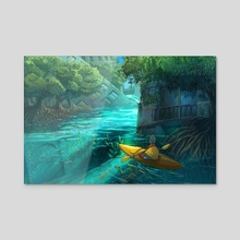 Mangrove City - Acrylic by Simon Sweetman