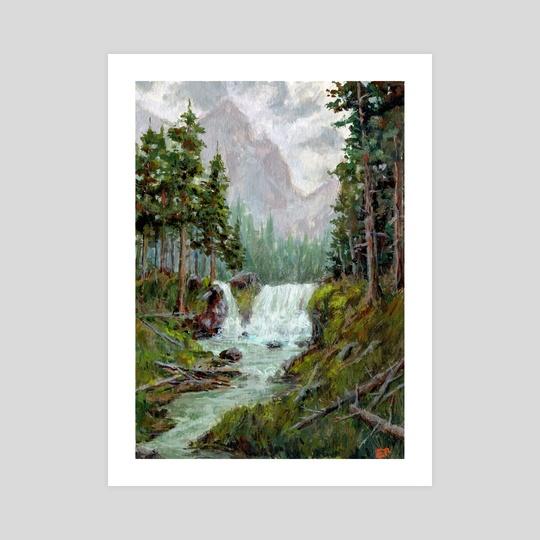 Misty Waterfall by Ed  Pulella