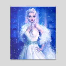 Elsa, Frozen - Acrylic by Joe Roberts
