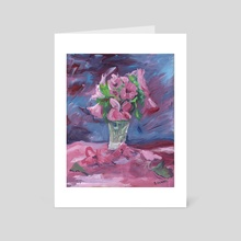 IMPRESSIONISTIC FLOWERS - Art Card by Agata B