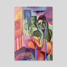 Downfall - Acrylic by Kiara  Florez