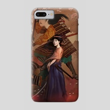 The Spirit of Tomoe Gozen I - Phone Case by Rudy Faber