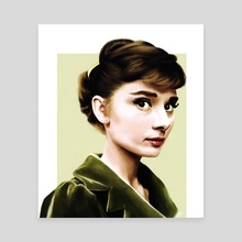 Audrey Portrait - Canvas by Sophie Eves