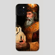 Stefan Milutin - Phone Case by Darko Stojanovic