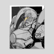 02 REINHARDT - Acrylic by Noisyghost