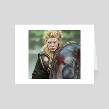 Lagertha - Vikings - Art Card by Haley bbanditt Wakefield
