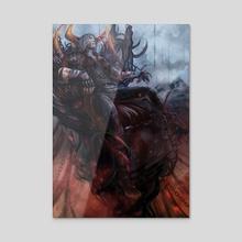 The Slumber King  - Acrylic by Fuge Nguyen
