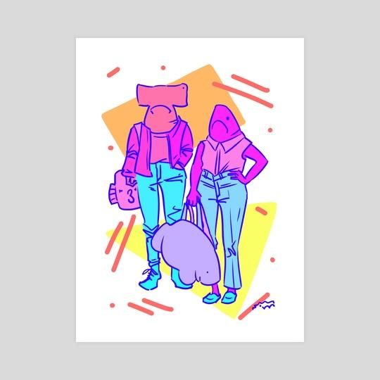 We Got Our Weekend Bags by Kelly Rasmussen