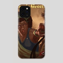 Liberty Punches Hate (festive version) - Phone Case by Claudio Pozas
