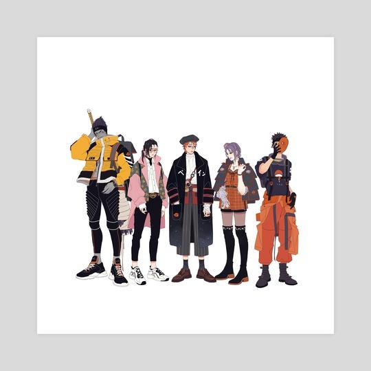 Naruto x fashion AKATSUKI No2 by mochipanko