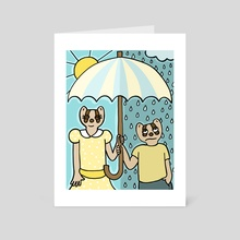 Rain or Shine - Art Card by Eliza Stein