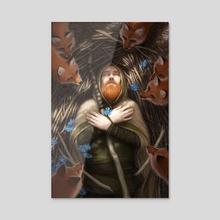 Fox Pyre - Acrylic by Beth Sobel