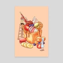 Brick Toast - Canvas by Gourmet Galleria