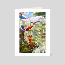 Solarpunk - Art Card by Rita Fei