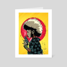 afro lady - Art Card by Ephrem Rokk