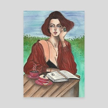 The Reader - Canvas by Lidiane Dutra