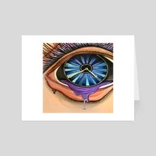 Open Your Eyes - Art Card by adam santana