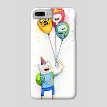 Adventure Time Finn Birthday Balloons Princess Bubblegum BMO Jake - Phone Case by Olga Shvartsur