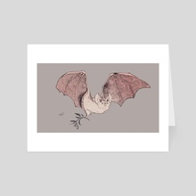 Little White Bat - Art Card by Solvina Shawelkina